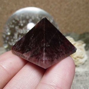 "1"" Red Tigereye Gemstone Pyramid (#1) 5 for $25!"